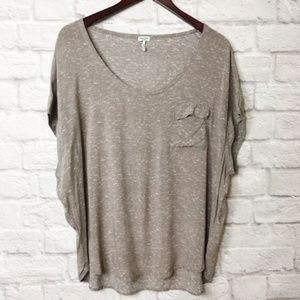Splendid Taupe High Low Tee Size XL
